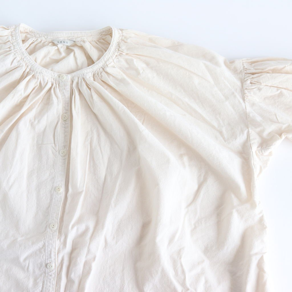 GATHERED DRESS #CREAM [L1802-DR001]