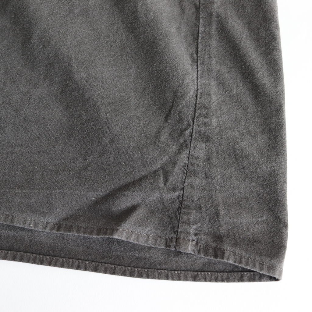 GATHERED DRESS #CHARCOAL [L1802-DR001]