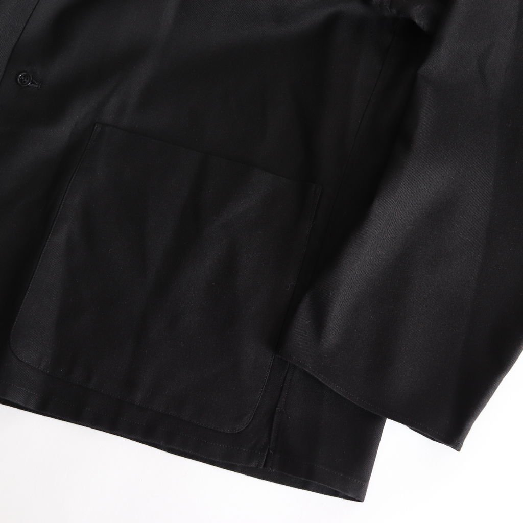 SILK FLANNEL JACKET #BLACK [GM183-20059]