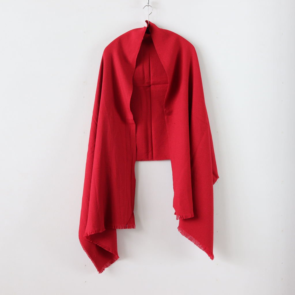 WOOL SILK STOLE #DULL RED [PR18AW-ST007]