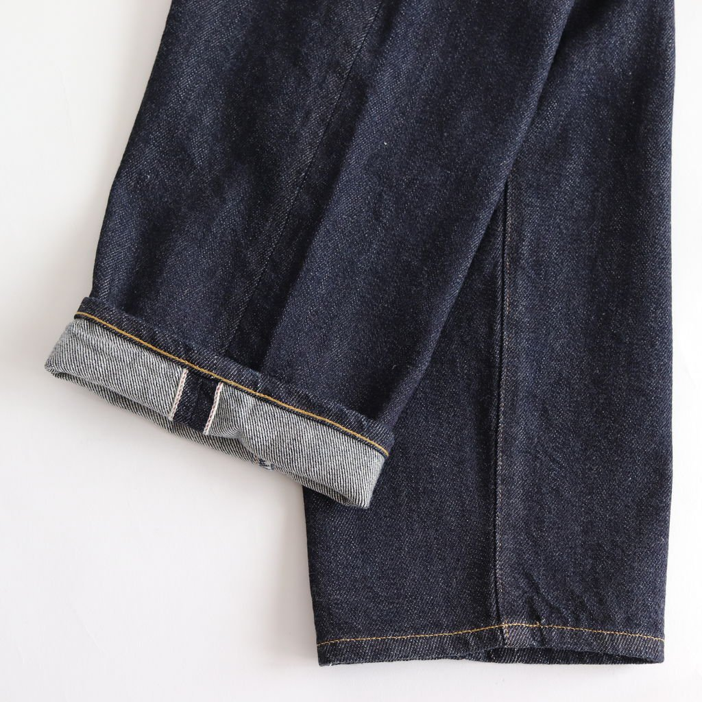 DENIM PANTS WIDE TAPERED #INDIGO [10-12W]