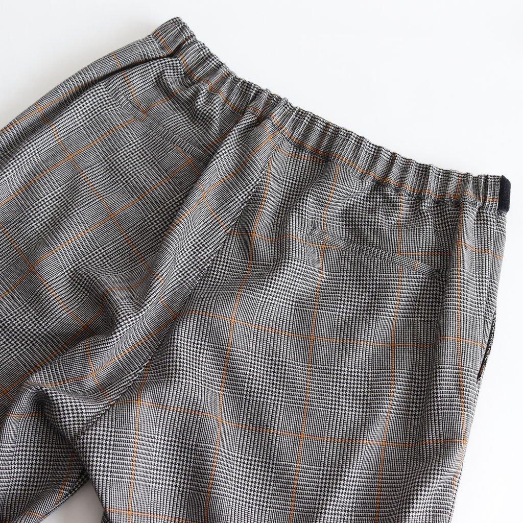 GLENCHECK WOOL WIDE COOK PANTS #GLENCHECK [GM184-40508]