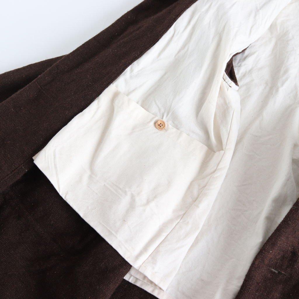 A LINE COAT #D.BROWN [48552]
