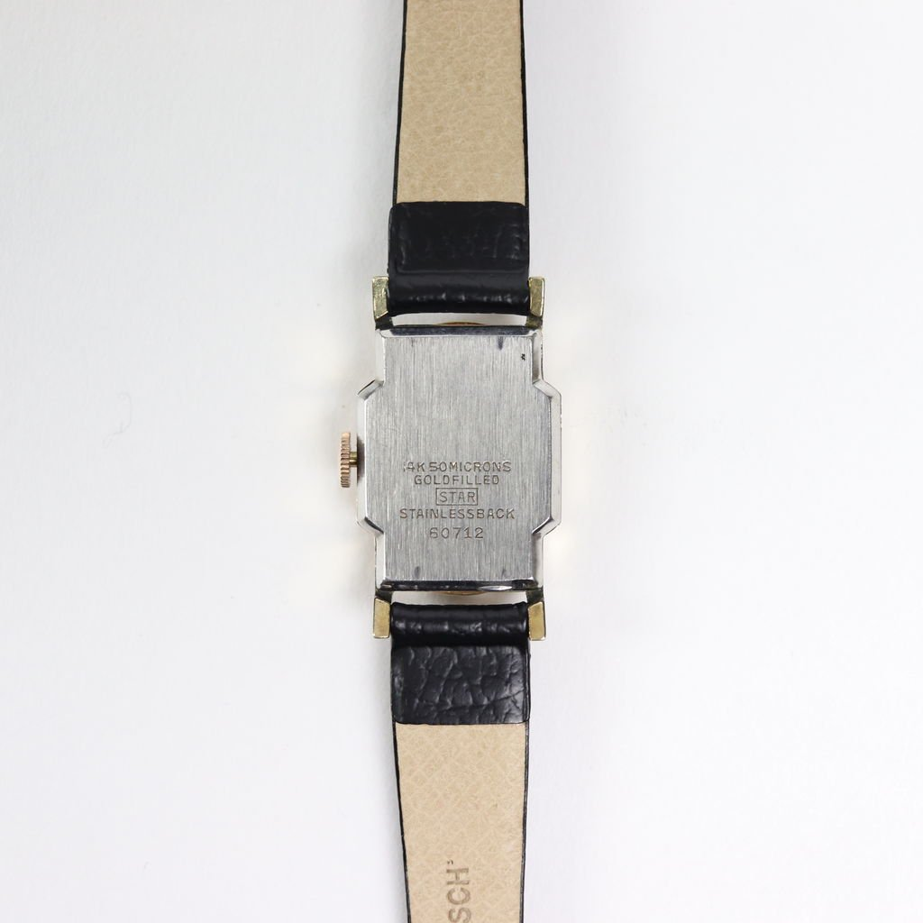REMAKE WATCH #BLACK LEATHER BAND / BLACK DIAL & GOLD CASE [19A-remake-15]