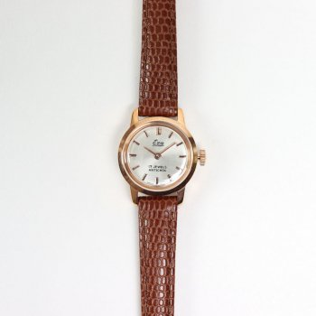 SWISS DEAD WATCH #BROWN LEATHER BAND / PEARL WHITE DIAL & PINK GOLD CASE [19A-swissdead-05] _ Watches | 腕時計