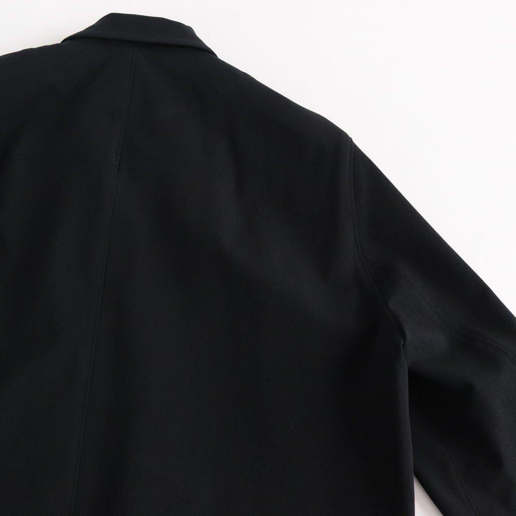 FTHBL|ヘビーナイロンストレッチ鹿の子ニット ジップブルゾン #BLACK [S9-FR041BN]