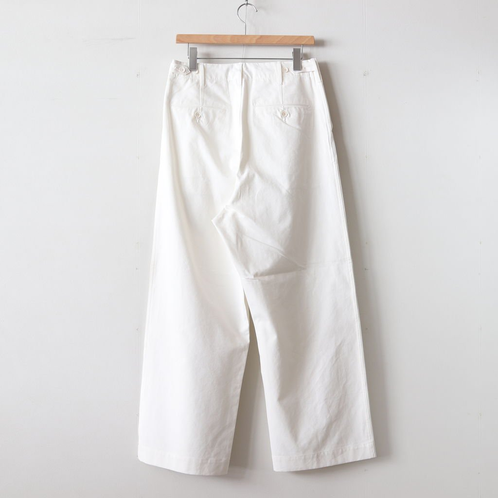WASHED FINX LIGHT CHINO WIDE PANTS #WHITE [A9SP01CN]