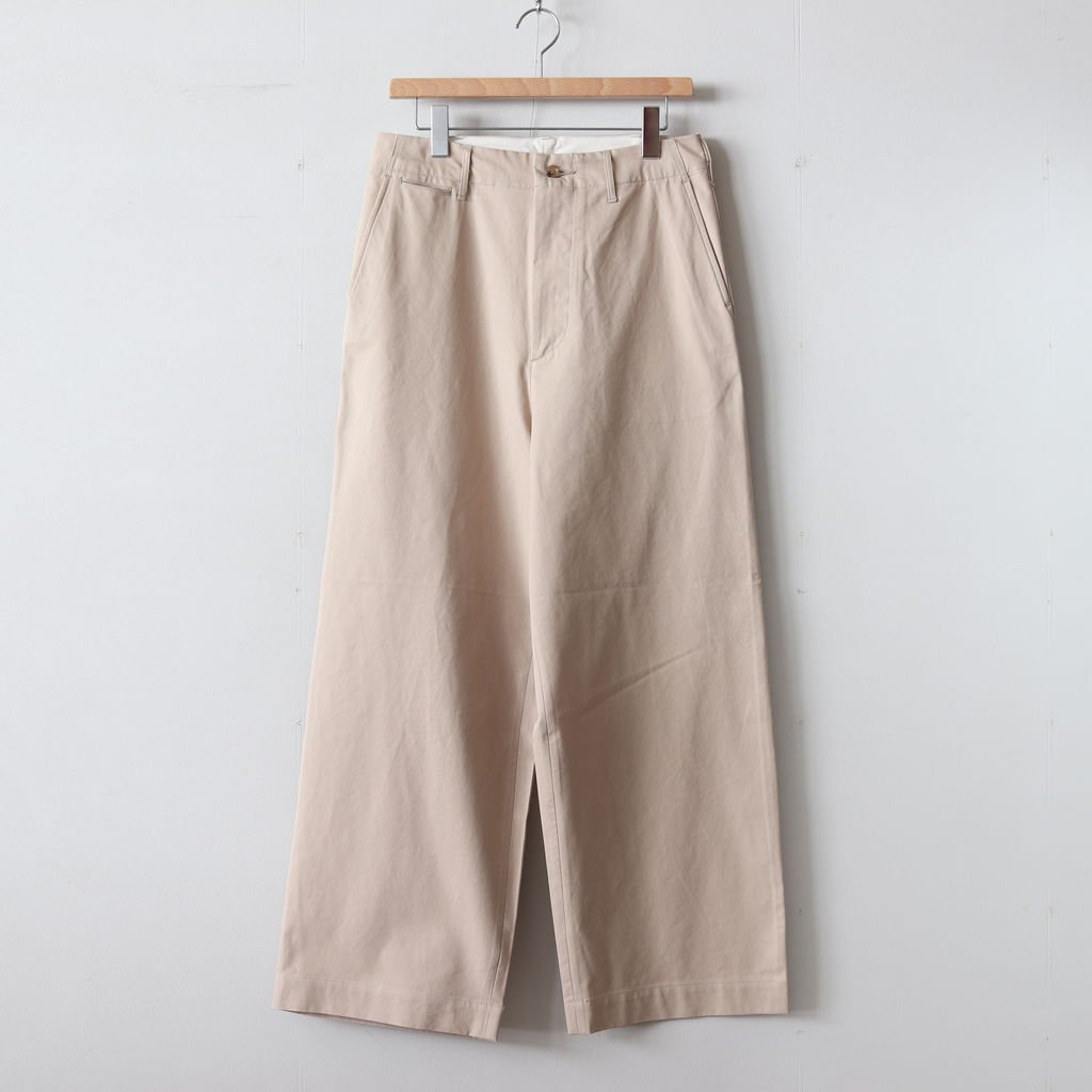 WASHED FINX LIGHT CHINO WIDE PANTS #IVORY [A9SP01CN]