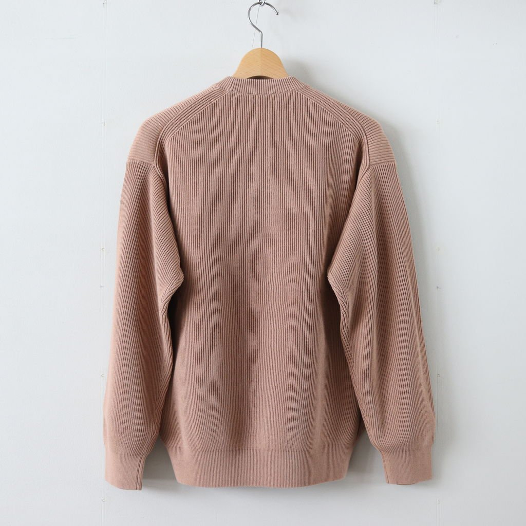 SUPER HARD TWIST RIB KNIT PO #PINK BEIGE [A9SP02TR]