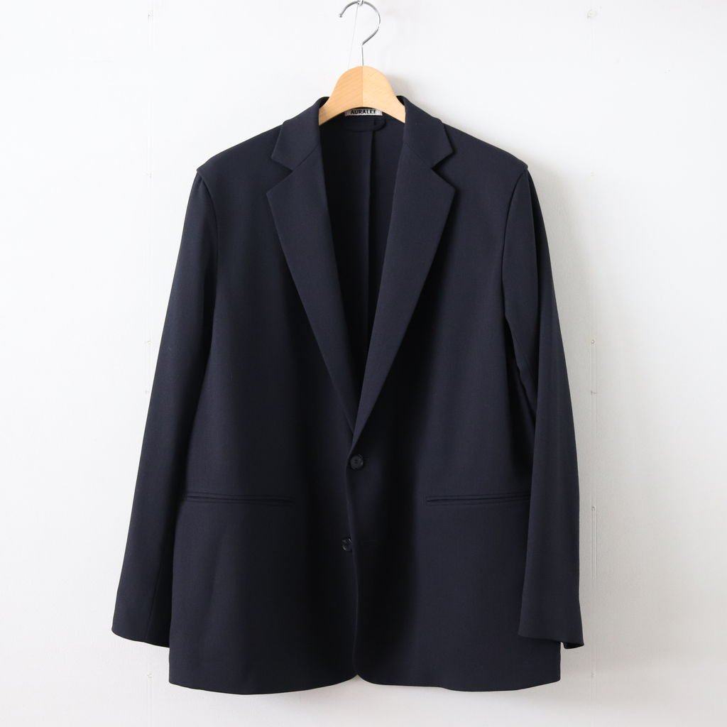 HARD TWIST WOOL DOBBY JACKET #DARK NAVY [A9SJ01KW]