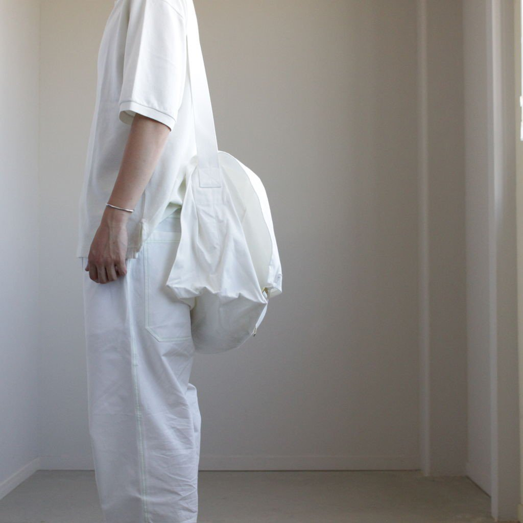 BIG SHOULDER BAG MADE BY CHACOLI #WHITE [A9SB01CL]