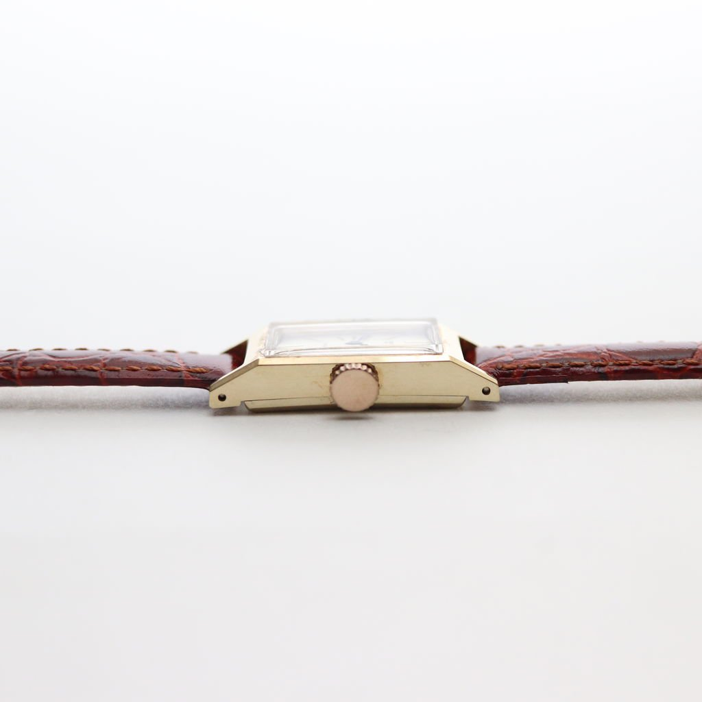 REMAKE WATCH #BROWN LEATHER BAND / GOLD DIAL & GOLD CASE [19B-remake-07]