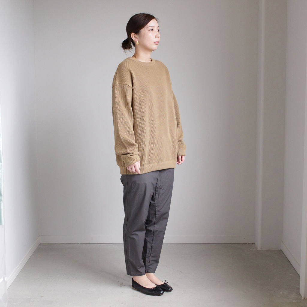 MOSS STITCH L/S SWEAT #KHAKI [1901-001]