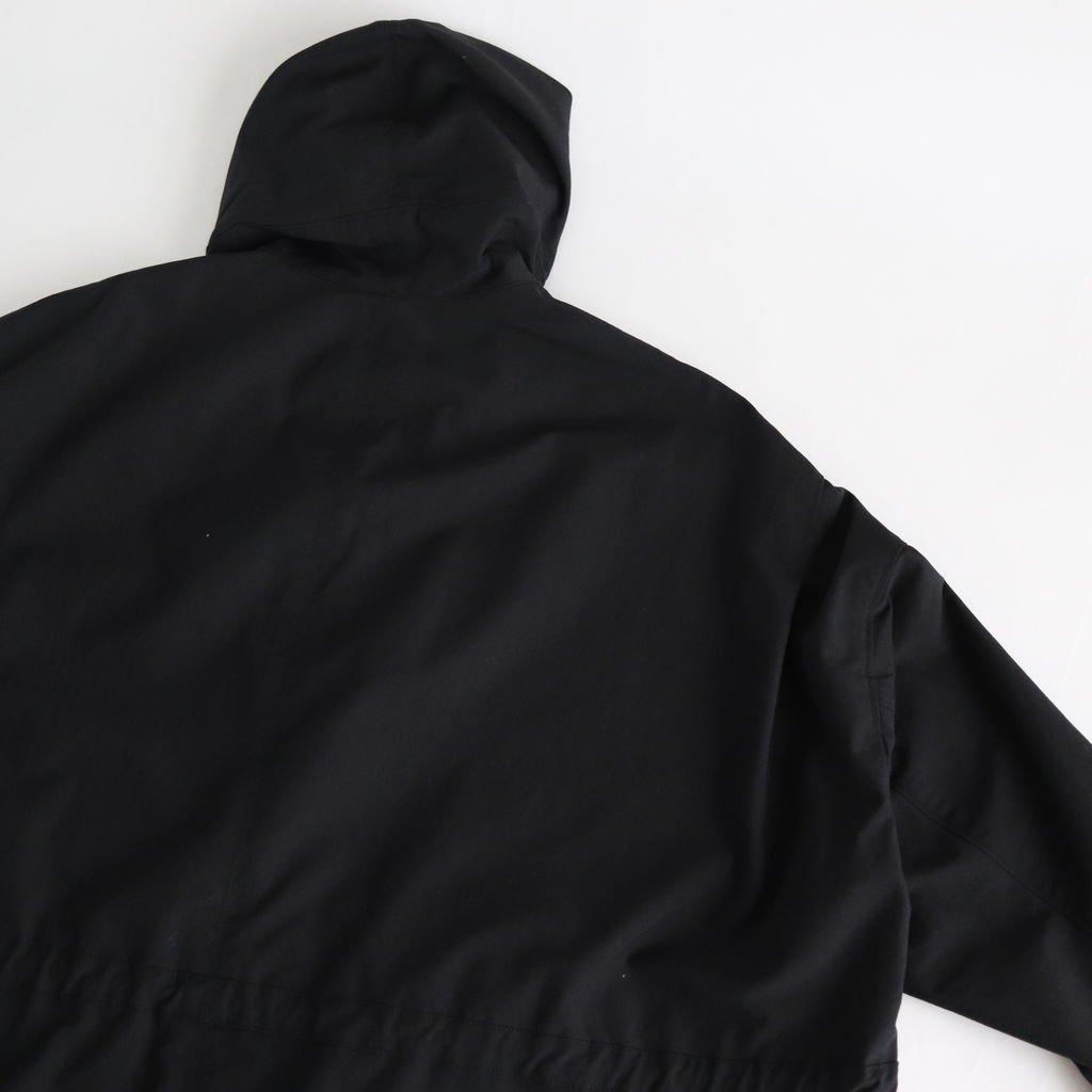 FMTPK|クールマックスストレッチキャンバス(ダック) フードオーバーコート #BLACK [S9-FR122PK]