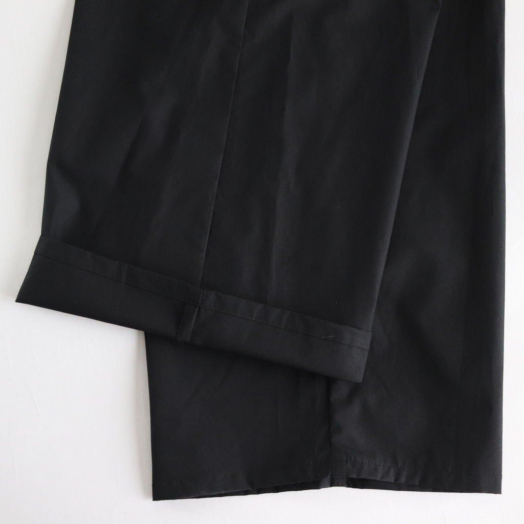 TYPEWRITER WIDE COOK PANTS #BLACK [GM191-40021B]
