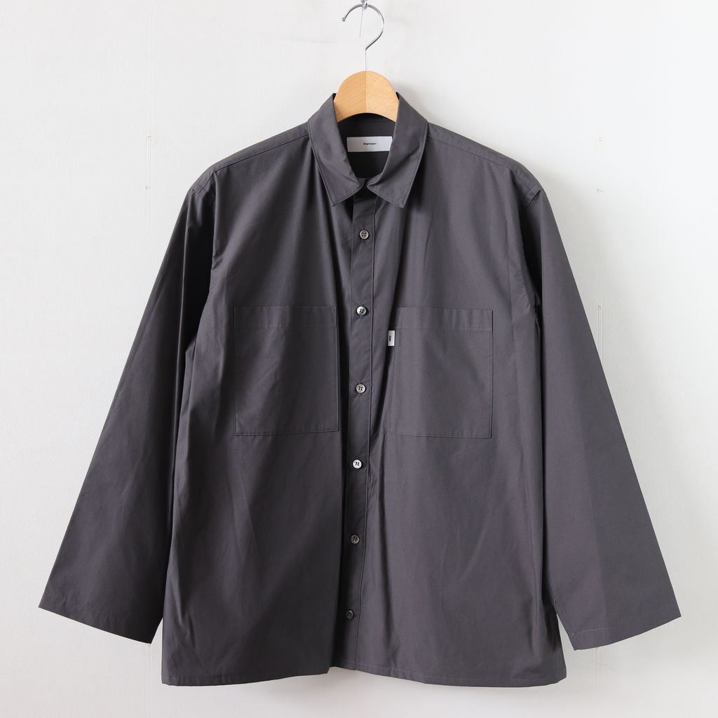 TYPEWRITER L/S BOX SHIRT #GRAY [GM191-50024B]