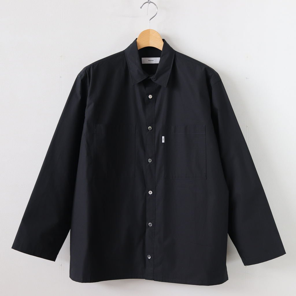 TYPEWRITER L/S BOX SHIRT #BLACK [GM191-50024B]