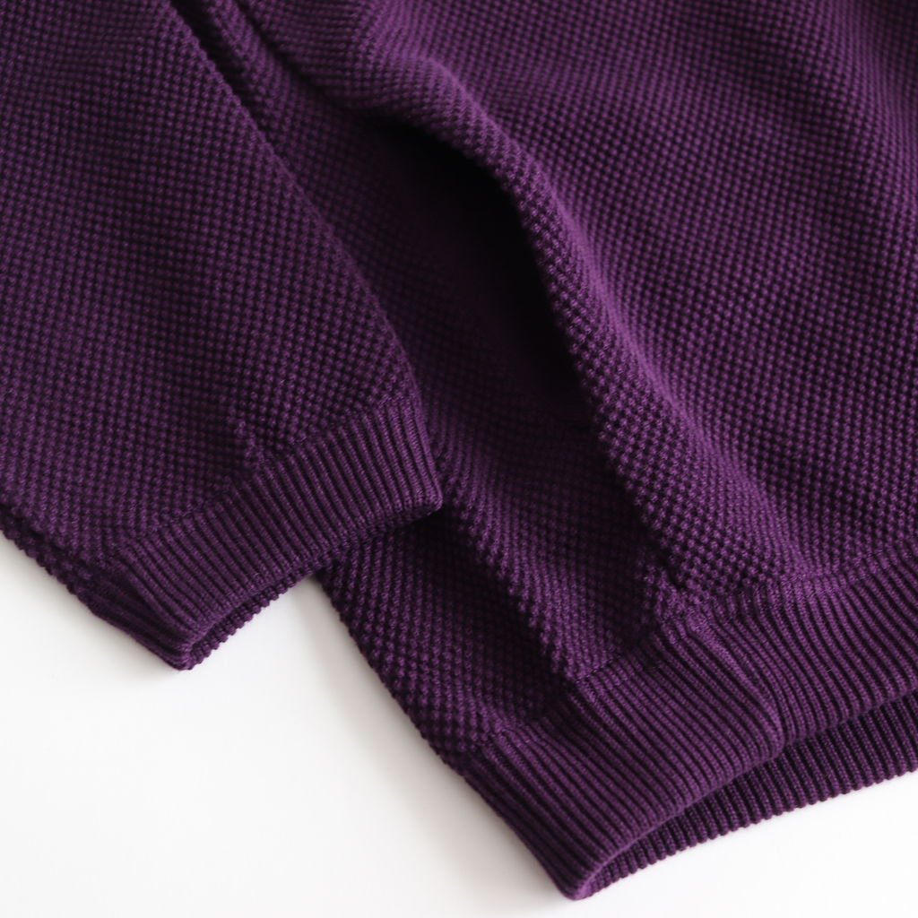 MOSS STITCH CARDIGAN for ciacura #DARK PURPLE [1901-011W]