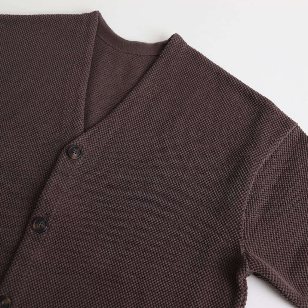 MOSS STITCH CARDIGAN for ciacura #COFFEE BROWN [1901-011]
