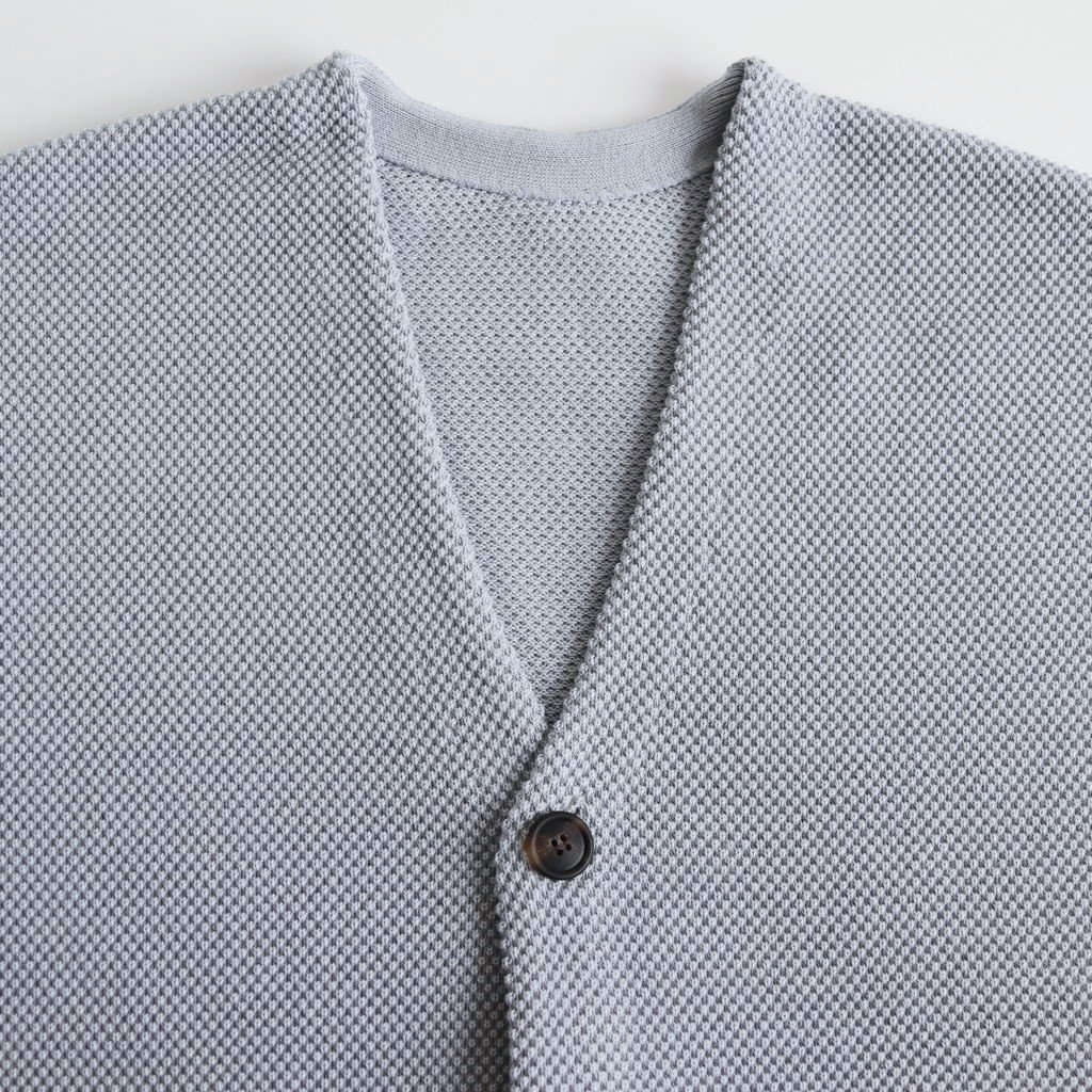 MOSS STITCH CARDIGAN for ciacura #STONE GRAY [1901-011]