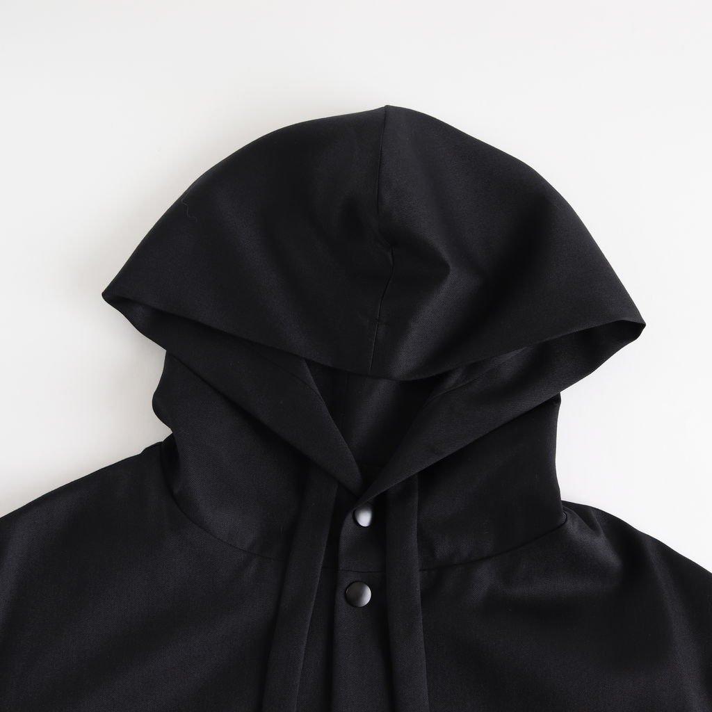 よそいきフードスロープショートCT #BLACK [D119-C125]