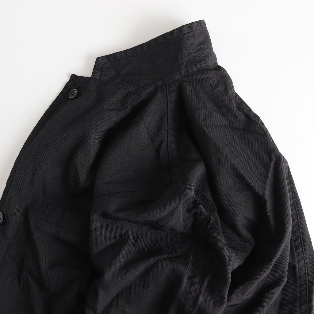 エステルサージ製品染め 3Bジャケット #BLACK [HC-J042-051]
