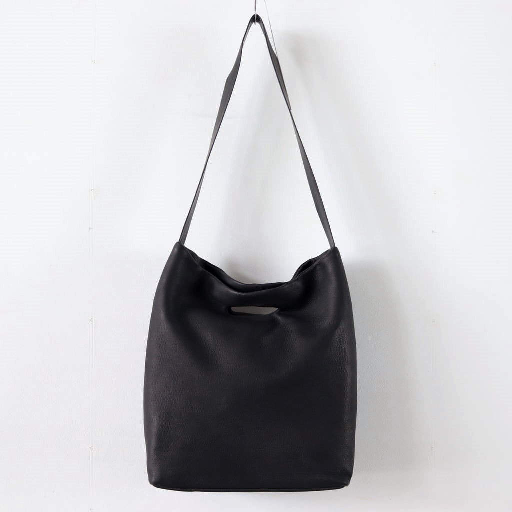 DEER SHOULDER TOTE M #BLACK [DA04]
