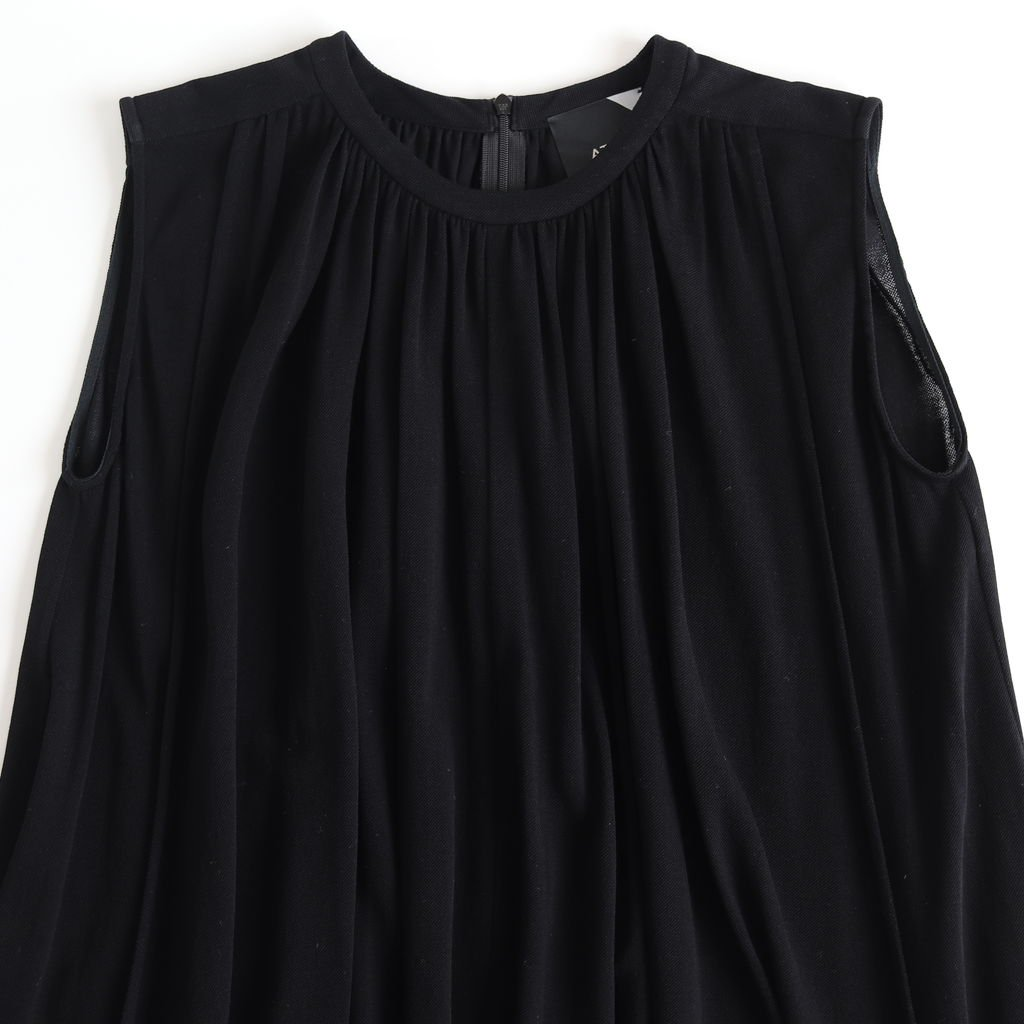 FRESCA KANOKO GATHER DRESS #BLACK [OPAGKM0403]