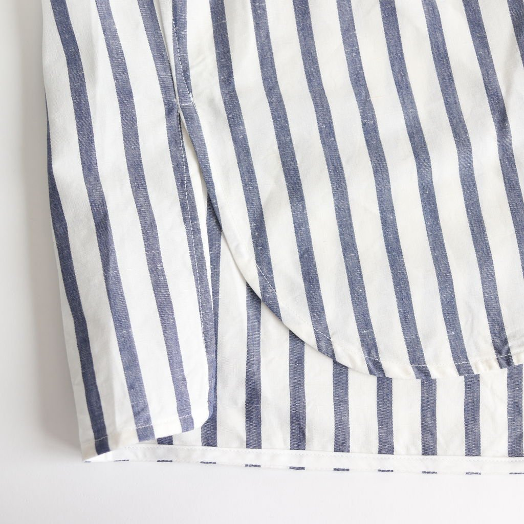 スクエアビッグシャツ半袖PO #BLUE STRIPE [TAIS-362]