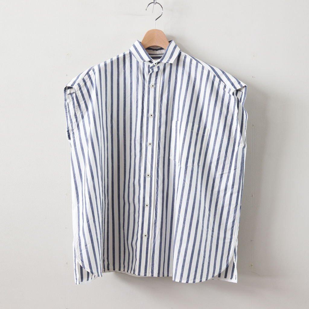 フレンチスリーブシャツ #BLUE STRIPE [TAIS-368]