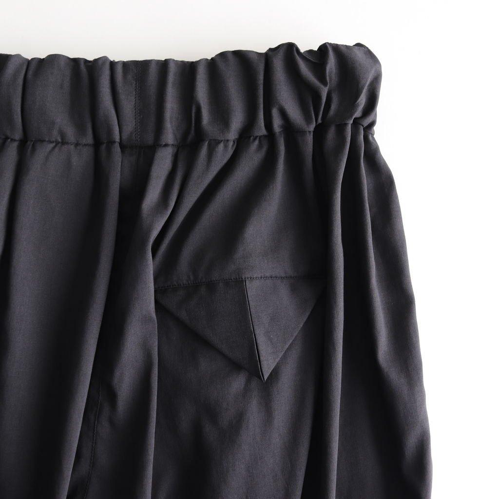 NGTPT クールマックスポリエステル&リネントロピカル ヘムタックワイドイージーパンツ #BLACK [S9-NC204PF]