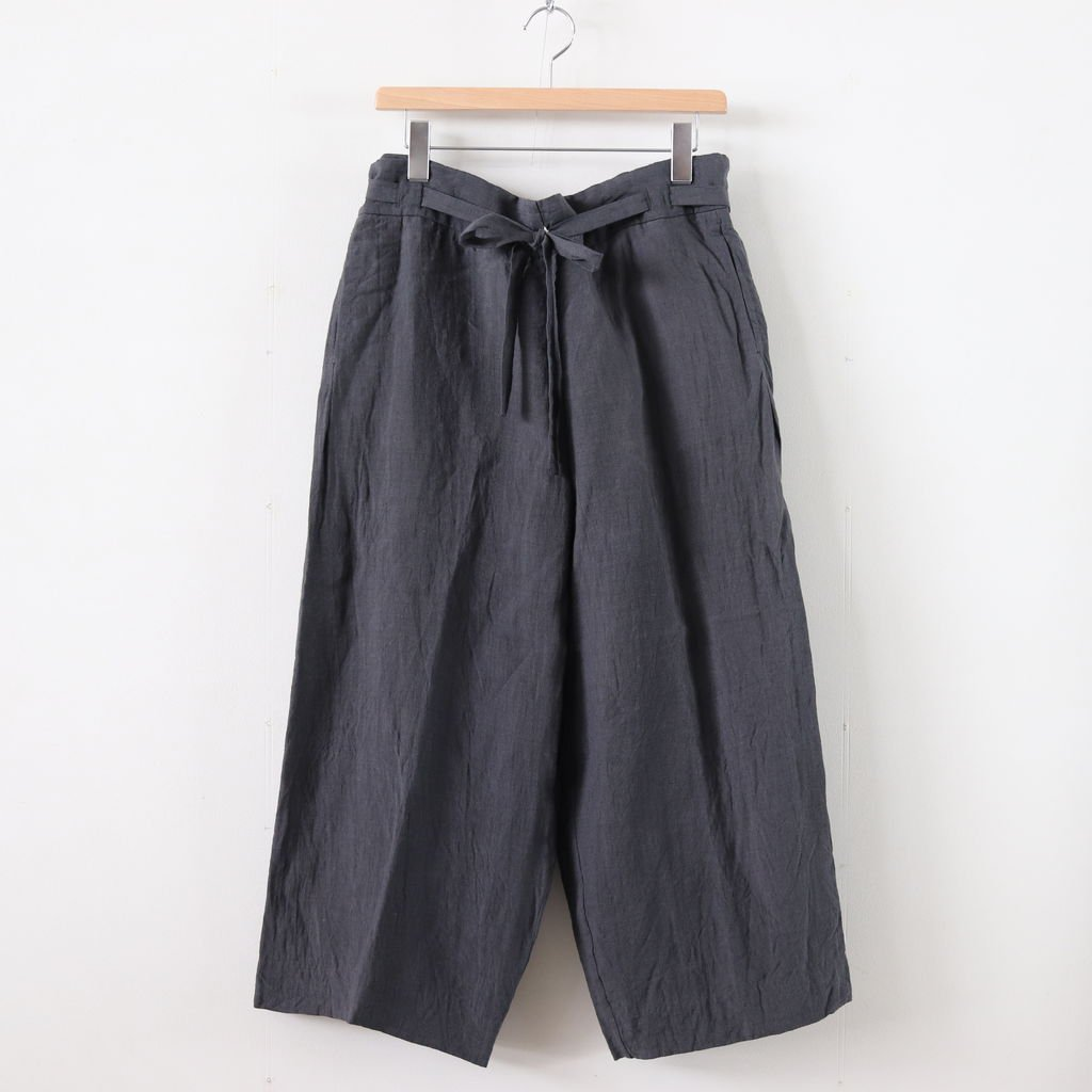 RIBBON PANTS #CHARCOAL [49615]