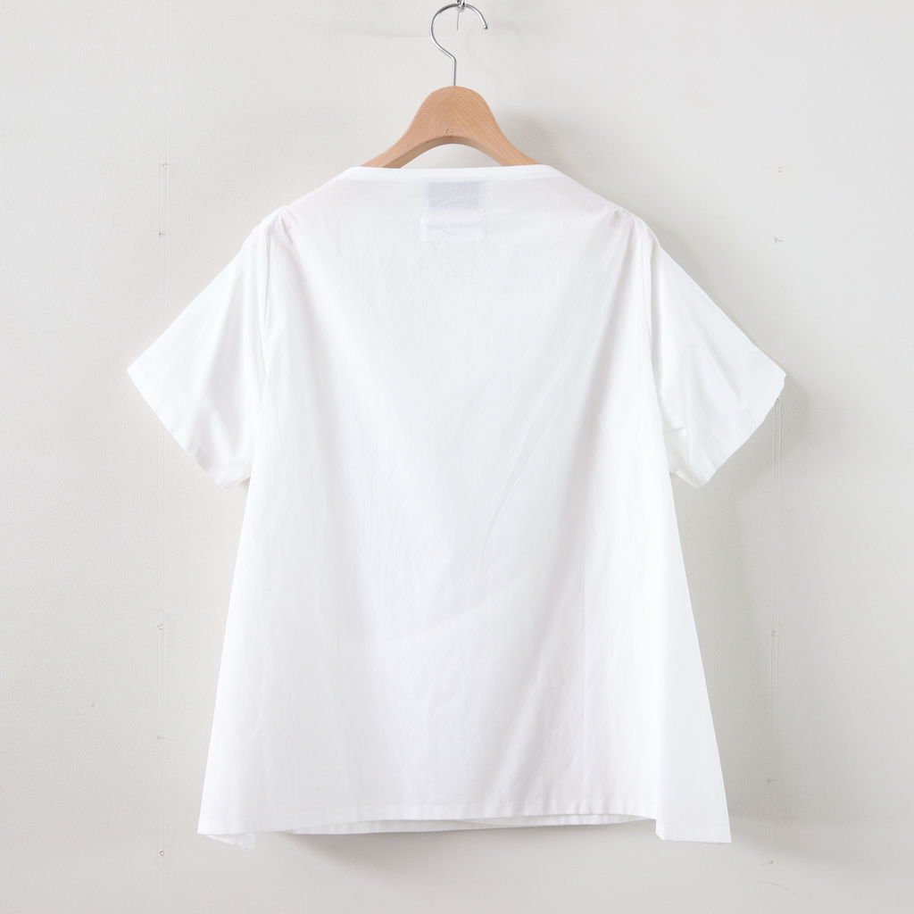 WRAP BLOUSE S/S #WHITE [99118]