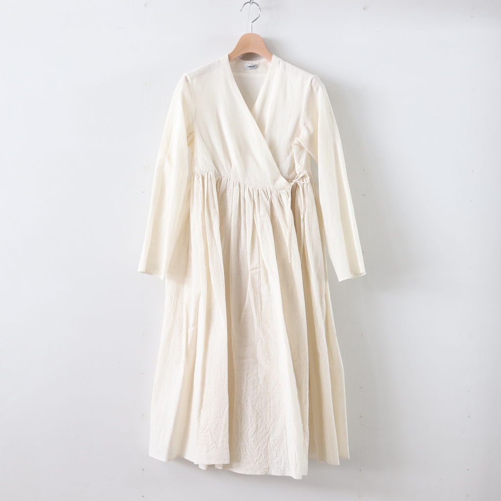 WRAP GATHER DRESS #WHITE [69715]