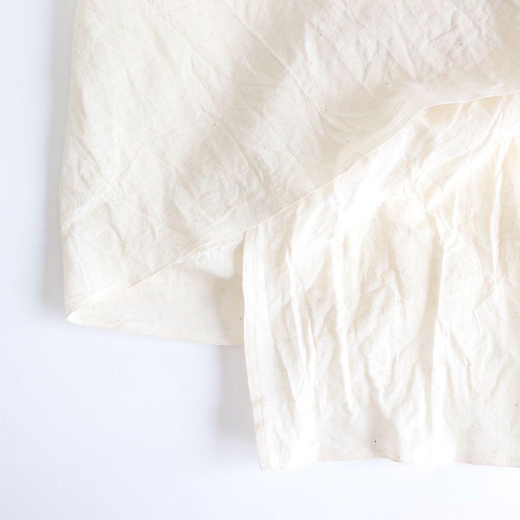 WRAP GATHER DRESS #WHITE [69715]