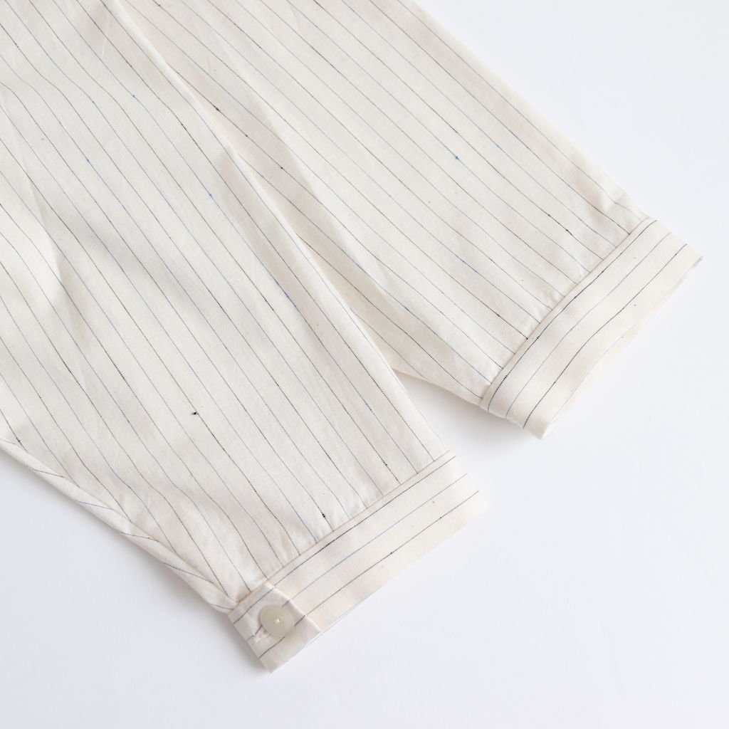 ディッキーフロントシャツOP-S #OFF WHITE/BLUE [D119-O510-S]