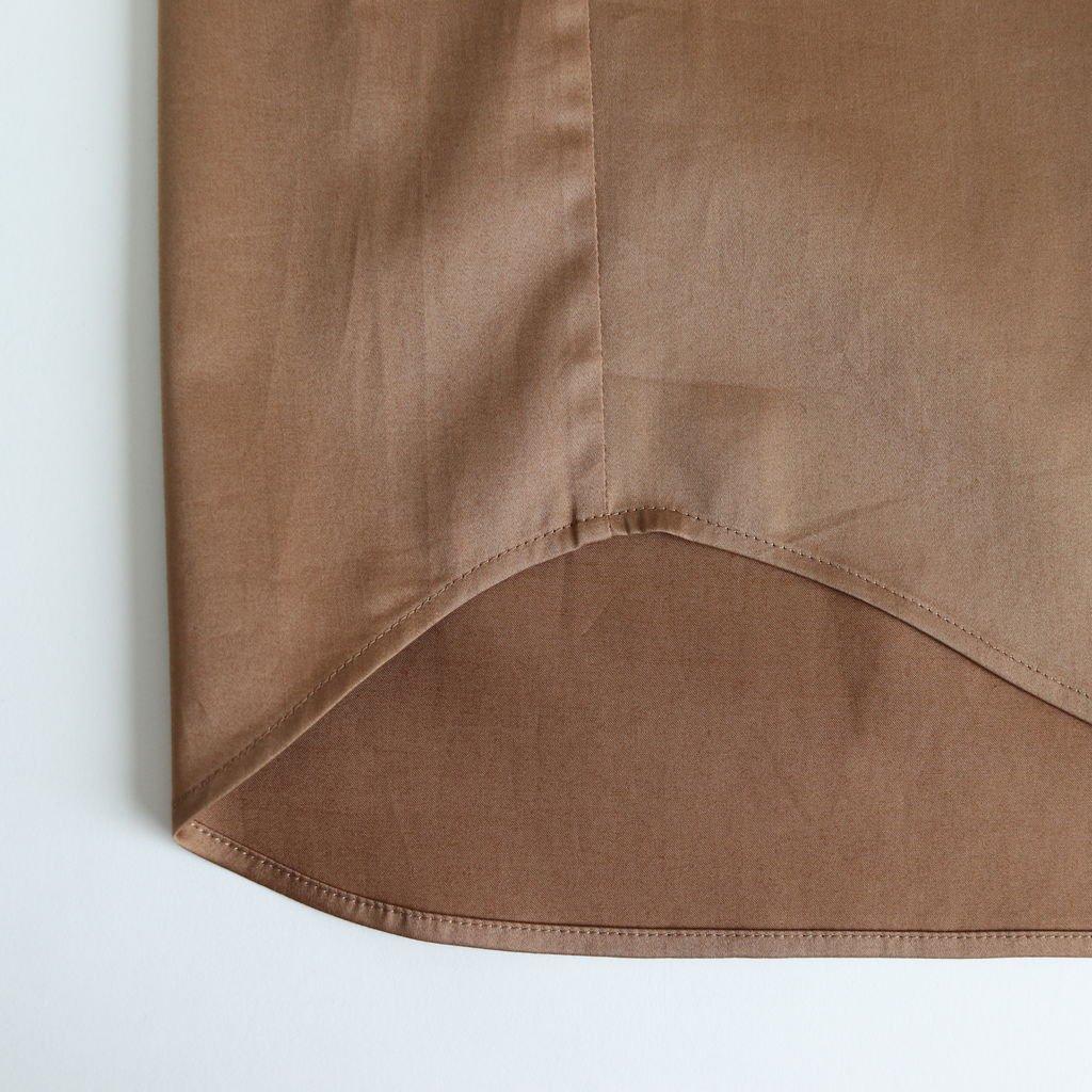 Sスリーブトレンチシャツ-C #LIGHT BROWN [D119-T524-C]