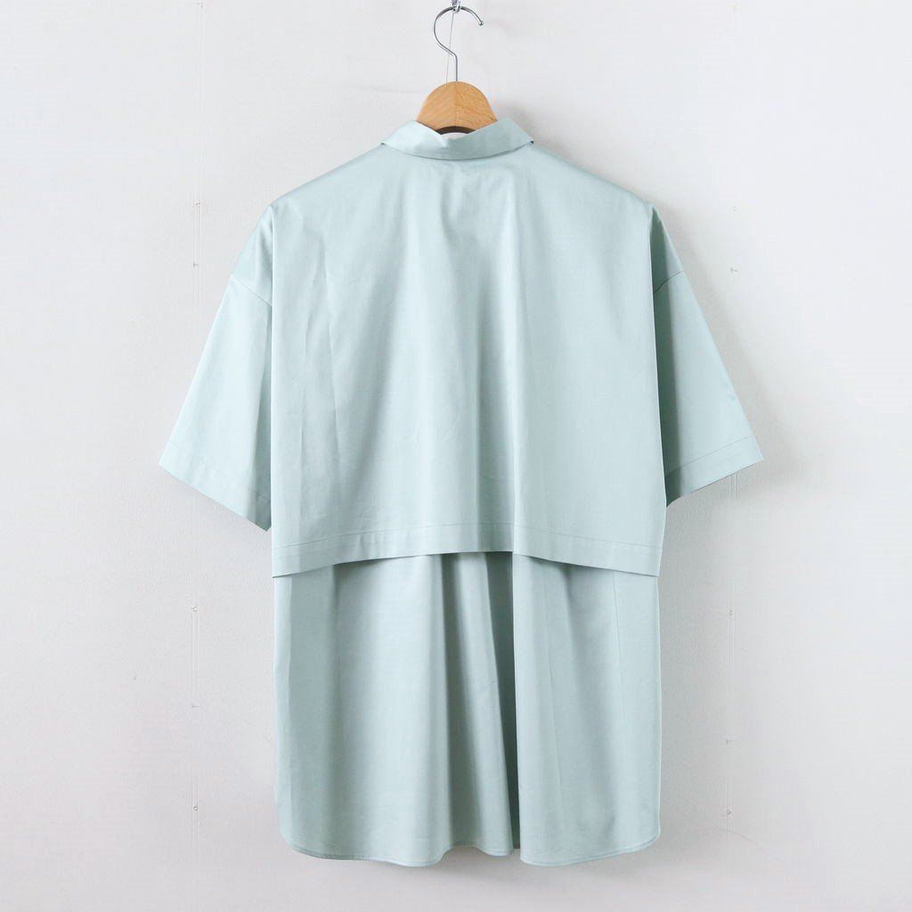 Sスリーブトレンチシャツ-C #AQUA [D119-T524-C]