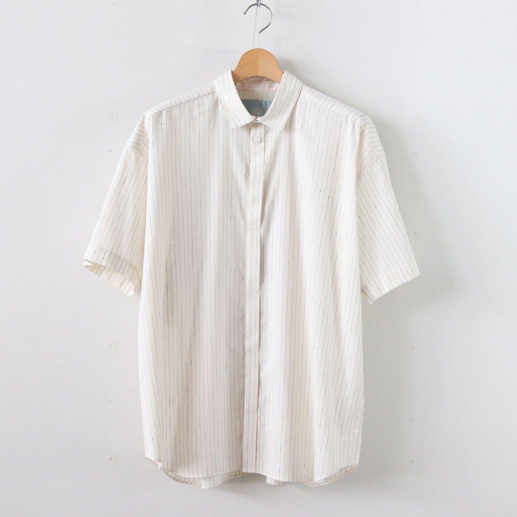Sスリーブトレンチシャツ-S #OFF WHITE/BLUE [D119-T524-S]