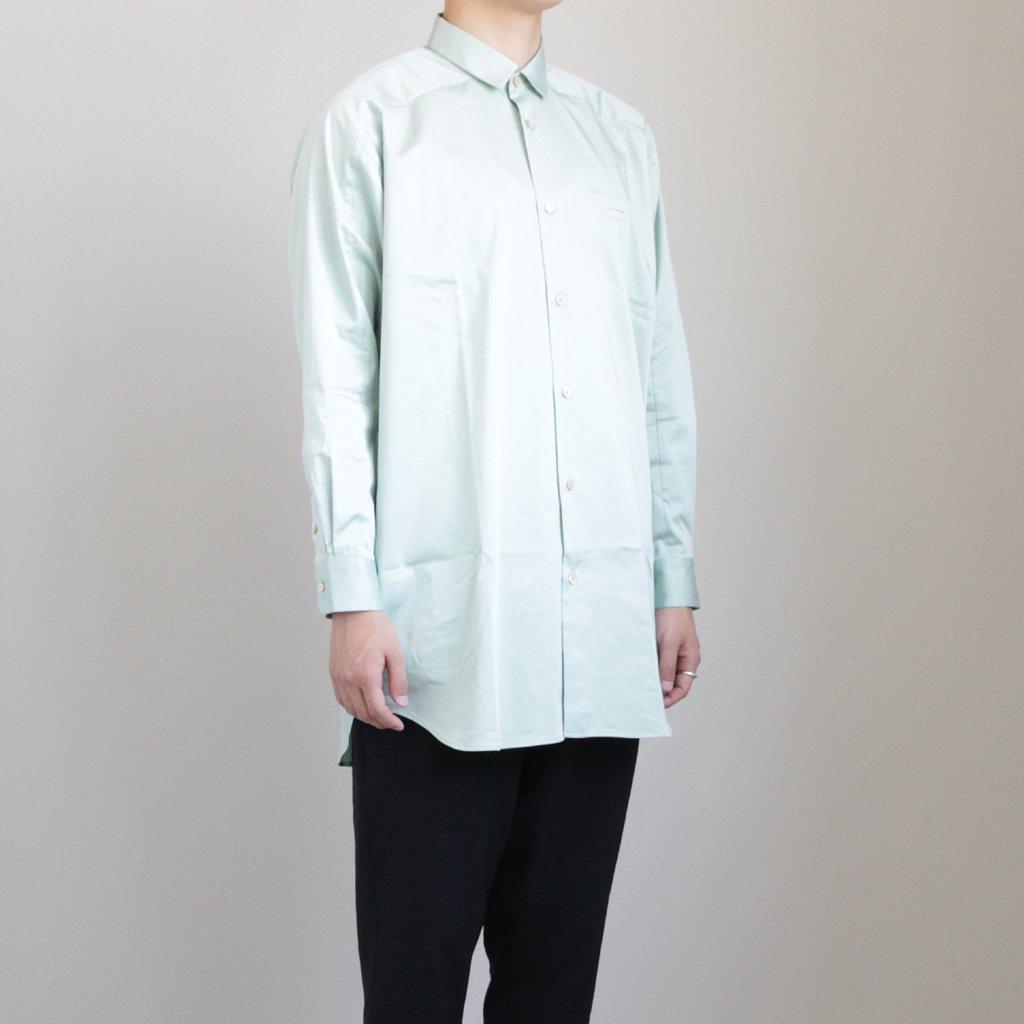 ヨークスリーブシャツ-C #AQUA [D119-T510-C]