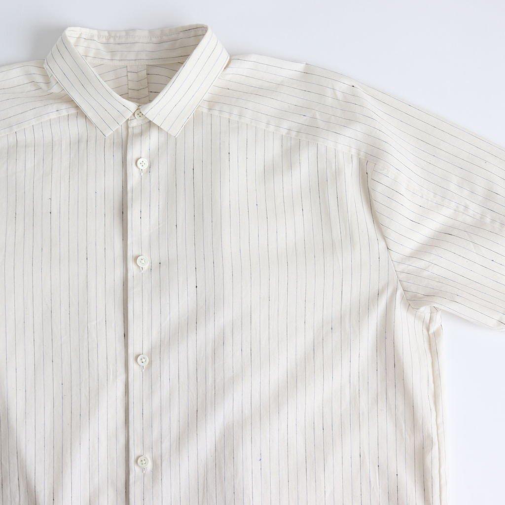 ヨークスリーブシャツ-S #OFF WHITE/BLUE [D119-T510-S]