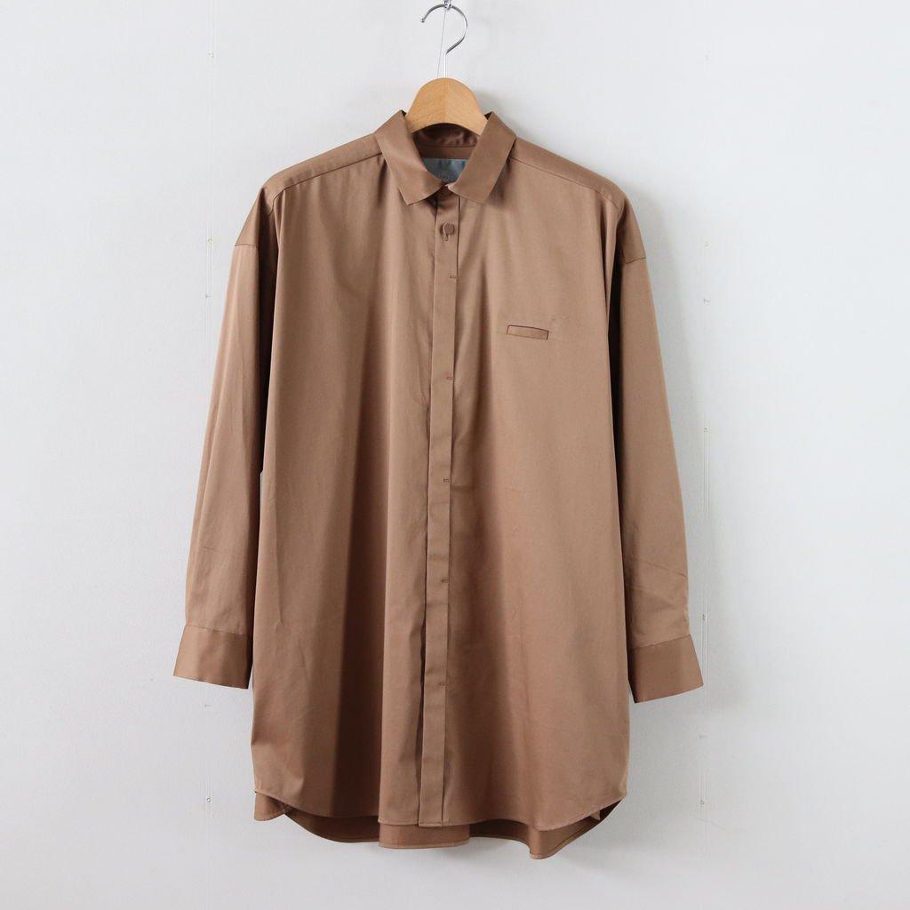 トレンチシャツ-C #LIGHT BROWN [D119-T525-C]