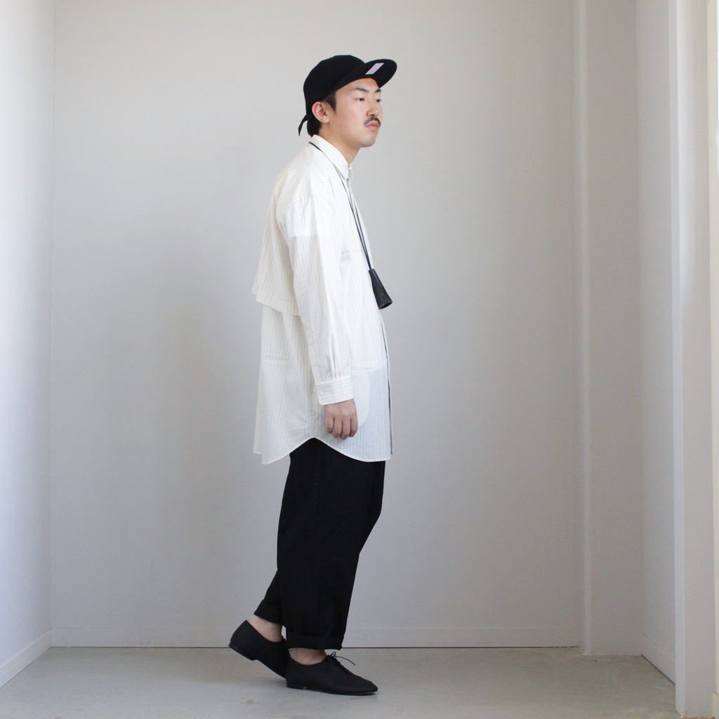 トレンチシャツ-S #OFF WHITE/BLUE [D119-T525-S]