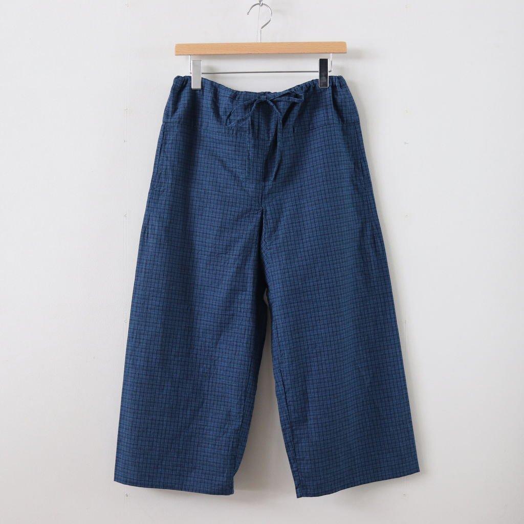 EASY PANTS WIDE #INDIGO-CH [69605]