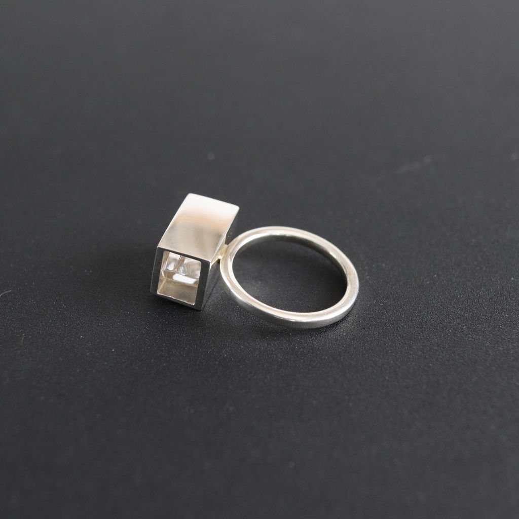 ground-07|RING - ACRYLIC,SILVER925 #ONE