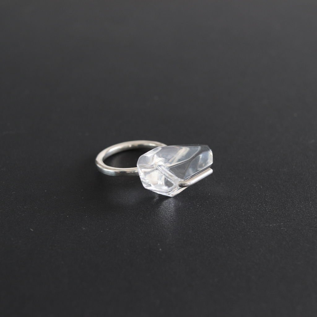 ground-01|RING - ACRYLIC,SILVER925 #ONE