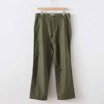 LIKE WEAR BAKER PANTS #OLIVE(SATIN) [29603] _ YAECA | ヤエカ