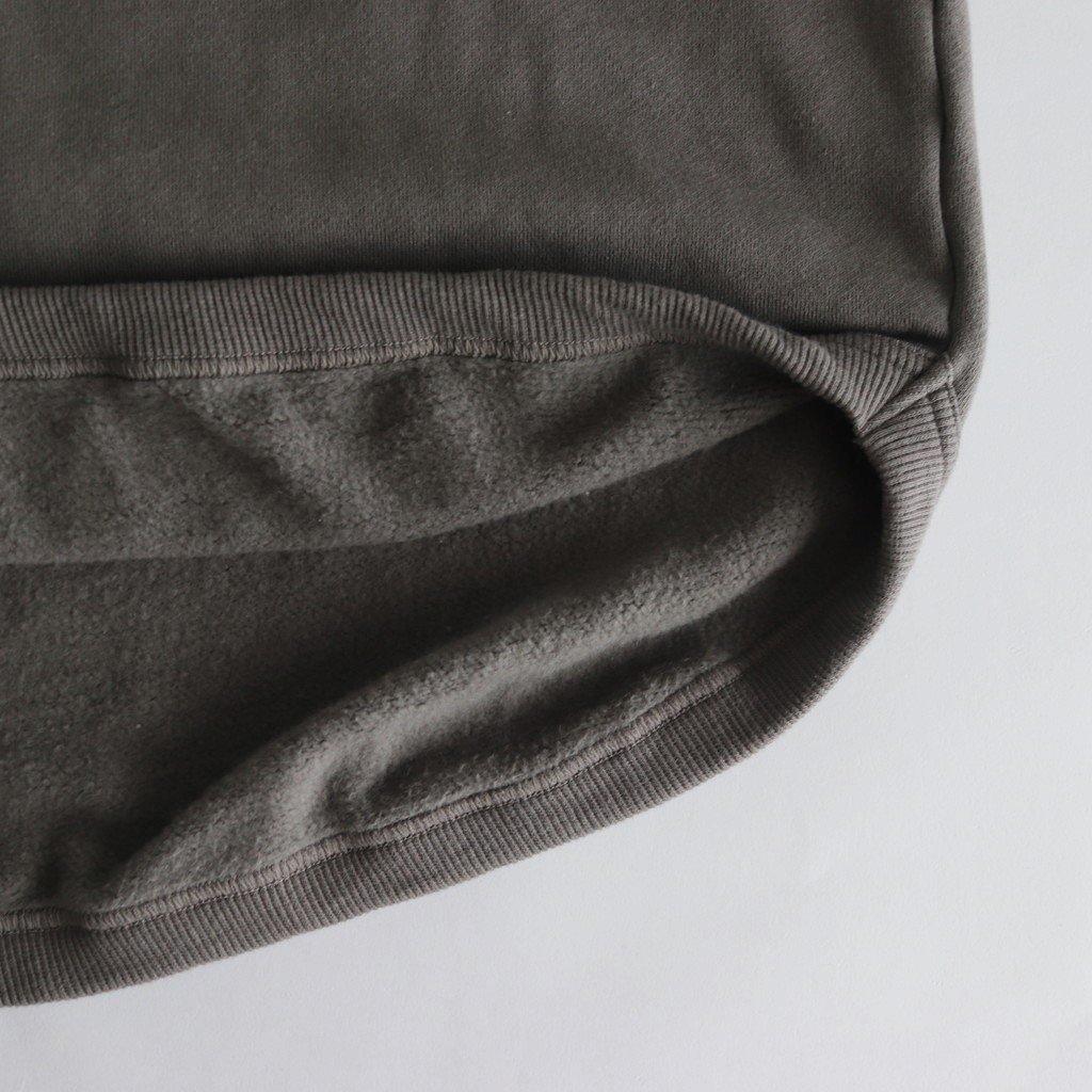 FWFPK|30/10裏毛裏起毛 ラウンドカットワイドプルオーバーパーカー #SMOKE GREY [A9-FR072TF]
