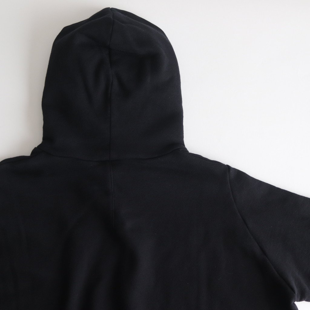 FBGPK|30/10裏毛裏起毛 ワイドプルオーバーパーカー #BLACK [A9-FR074TF]