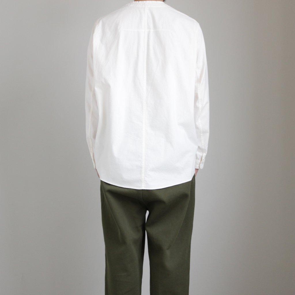 FMCSH|ラフコットンシーチング Vネックセミワイドシャツ #ECRU [A9-FR012SF]